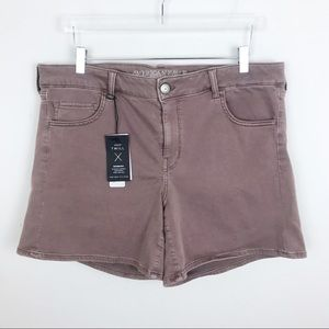 American Eagle Blush Denim Jean Shorts Midi 18